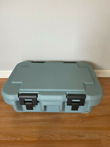 Lot of 3 Cambro Insulated Food Carrier Catering Tray Container Hard Box Hot Cold