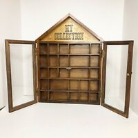 """Vintage Enesco """"My Collection"""" Hanging Display Case w/ Glass Doors Curio Cabinet"""