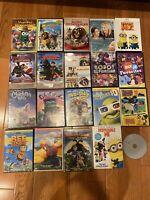 Lot 20 Kids DVDs movies Disney Dreamworks Finding Nemo Ratatouille Train Dragon