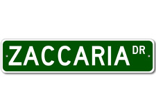 ZACCARIA Street Sign - Personalized Last Name Signs