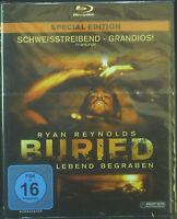 Blu-ray  Ryan Reynolds BURIED - lebend begraben, neu - ovp