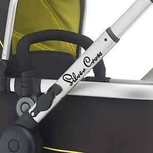 SILVER CROSS Replacement pram logos. Vinyl decal pushchair, stroller. sticker