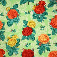 FreeSpirit Botanical Roses Green Floral Quilting Quilt Cotton Fabric by the Yard