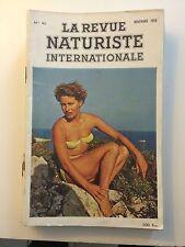 LA REVUE NATURISTE N ° 46  / 1959 / PIN UP CHARME EROTISME / NO PLAY BOY NO LUI