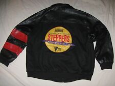 1993 World's Largest Steppers Contest Leather Jacket Mens XL Michelob Rare VTG