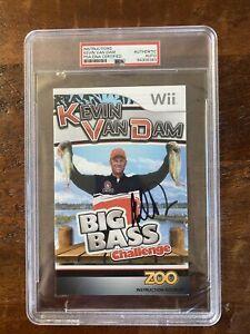 Kevin Van Dam Signed Big Bass Challenge Nintendo Wii Video Game PSA/DNA Slab