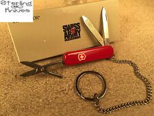 """2-1/4"""" Closed Victorinox Switzerland Red Classic Illuminator knife & Chain"""