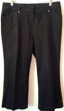 Women Willi Smith Stretch Twill Pants Size 10 Short Black Flat Front Trouser LHM