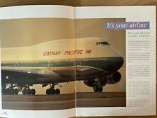 CATHAY PACIFIC AIRWAYS 1992 HOLIDAYS BROCHURE B747