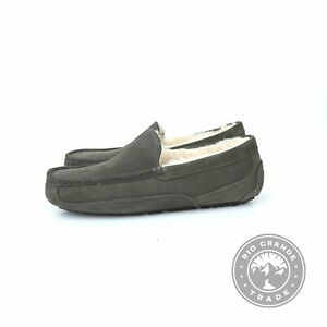 NEW UGG 1101110 Men's Ascot Slippers in Burnt Olive Suede Upper / Wool - 9 US