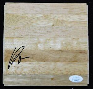 Kelly Olynyk Houston Rockets Signed 6x6 Floorboard JSA Authenticated