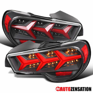 Fit 2013-2016 Scion FRS Subaru BRZ Black Lambo Tail Lights Sequential LED Signal