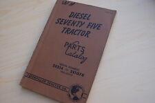 CATERPILLAR SEVENTY FIVE Tractor Crawler Dozer Parts Manual book catalog 75 2E