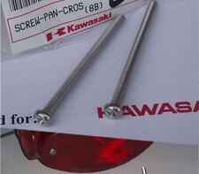 Kawasaki NOS H1 H2 S2 F G KE KZ KH Taillight Chrome Screws, 2 pcs 220R0455