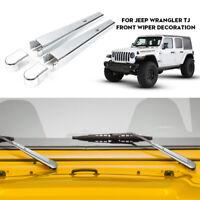 Chrome Window Windshield Wiper Blade Trim Cover For 1997-2006 Jeep Wrangler TJ