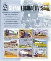 Union Is 2004 Trains/Steam Engines/Locomotives/Railway/Transport 9v sht (n32601)
