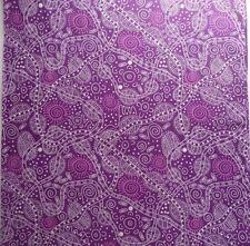 Bush Tucker Purple Dots Australian Aboriginal Fabric Patchwork Quilting Craft FQ