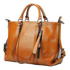 Damen British Retro-Öl Leder portable Schulter lässigen Lederhandtasche N0T0