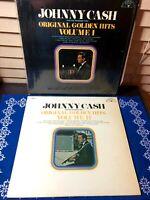 1969 JOHNNY CASH Original Golden Hits Vol.1-2 Vinyl LPs Sun Records 100 Country