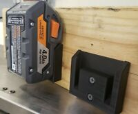 **2 Pack** Ridgid 18V Wall/Under Shelf Battery Holder Mount
