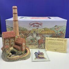 David Winter cottage figurine sculpture Hine nib box coa 1987 Derbyshire mill Uk
