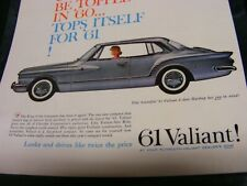 VALIANT car..., Genuine Original  Ad...1961 Valiant  2-door hardtop.