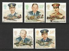 GREAT BRITAIN UK 1986 HISTORY OF ROYAL AIR FORCE COMP. SET OF 5 STAMPS USED