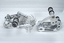 POLISHED  FORWARD CONTROLS PEGS for HARLEY DAVIDSON Heritage FXST FXSTC 1999