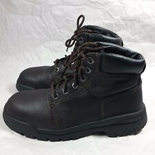 Women's Wolverine Steel Toe EH Brown Oiled Leather Boots-7.5