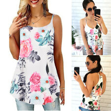 Women's Sleeveless Strappy Tank Tops Loose Tunic Camisole Sling Vest Cami Blouse
