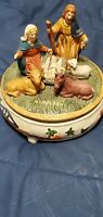 The Birth of Jesus ceramic music box