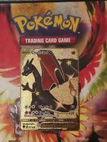 Pokemon Card - Charizard V - 079/073 - Custom Gold Metal Card