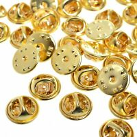 Brass Clutch Clasp Butterfly Military Pin Backs Guards Gold Chrome Silver