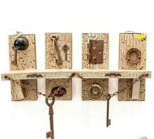 Contemporary Rustic Looking Display Shelf w/Hardware Accents - Unique!