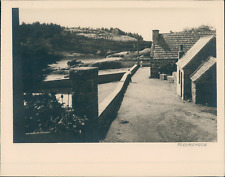 France, Perros-Guirec, Cabanes à Ploumanach, ca.1935, vintage silver print Vinta