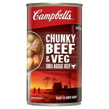 Campbell's Chunky Beef Soup Can 505g