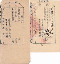 S2110, China Gu-Zhao Rural Association, Stock Certificate 2 Pcs, 1951