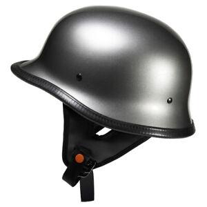 Lunatic German Style Shorty Helmet - DOT Approved - Adult Motorcycle Half Helmet