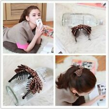New  Acrylic Hair Hook Leopard Print Bowknot Banana Clip Hair Accessories
