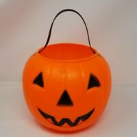 Empire Blow Mold Halloween Jack O Lantern Pumpkin Candy Trick Treat Bucket Pail