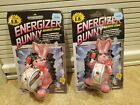 Lot 2 VINTAGE TOY Energizer Bunny Squeeze Light The Original E.B. 1990  1991 NEW