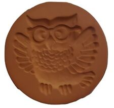 "RYCRAFT 2"" Round Cookie Stamp with Handle & Recipe Booklet--WISE OLD OWL"