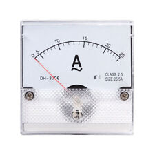 1PC Square Analog Panel AMP Current Meter AC 0-25A Ammeter Gauge DH-80 80*80