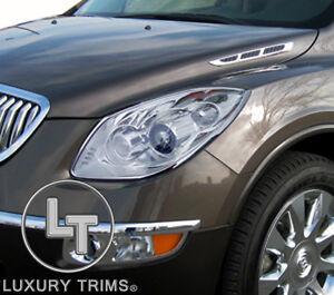 Buick Enclave Chrome Headlight Trim Bezels by Luxury Trims 2008-2012 EXCLUSIVE!!