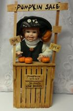 Vintage Pumpkin Sale For Thanksgiving or Halloween Girl Doll Farmer Display