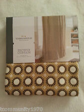 "Threshold Circle Shower Curtain - Yellow/Gray Marble (72"" x 72"")"