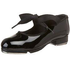 Leo's 808WAD Black Women's Size 5.5 Medium Patent Leather Ribbon Tie Tap Shoes