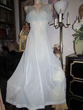 1950's Vtg Van Raalte Myth Robins Egg Blue Tissue Sheer Nylon Nightgown 36 Sissy