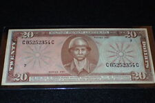 Vietnam War U.S. Military Payment Certificate $20 Dollar Series 681 Uncirculated