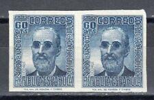 ESPAÑA 1937 EDIFIL 739s** PAREJA SIN DENTAR FERMÍN SALVOECHEA